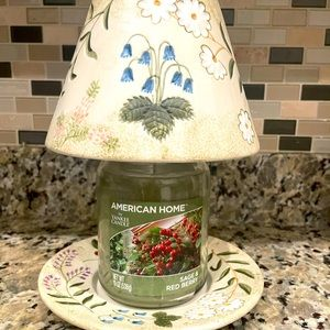 Yankee Candle Jar Shade and Matching Plate.